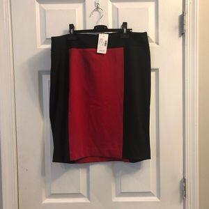 NWT Lane Bryant color block pencil skirt